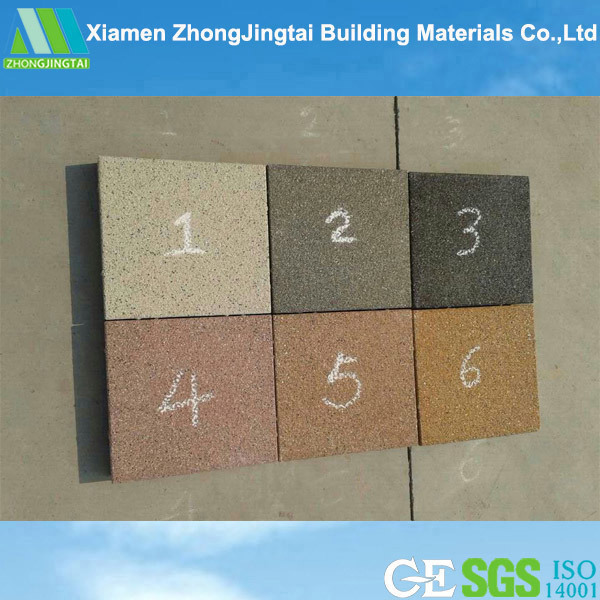 Cost-effective water permeable natural tourmaline paving brick