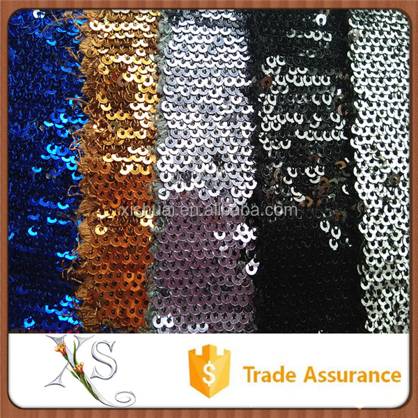 Tinsel Bright sequin knit fabric