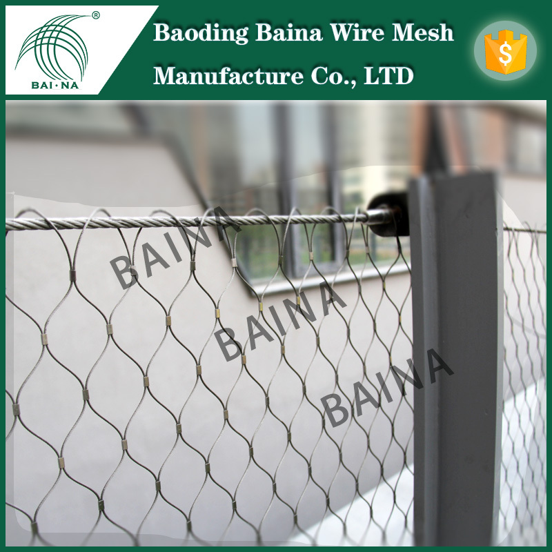 304 Stainless Steel Wire Rope Mesh Net For Playground Fence/stairs ...