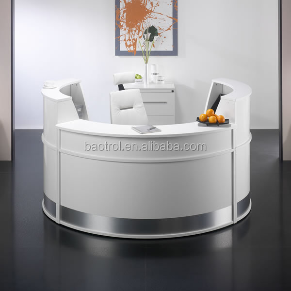 Glacier Ice Half Round Reception Desk