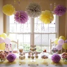 Party Pastel Tissue Paper Fluffy Pom Poms