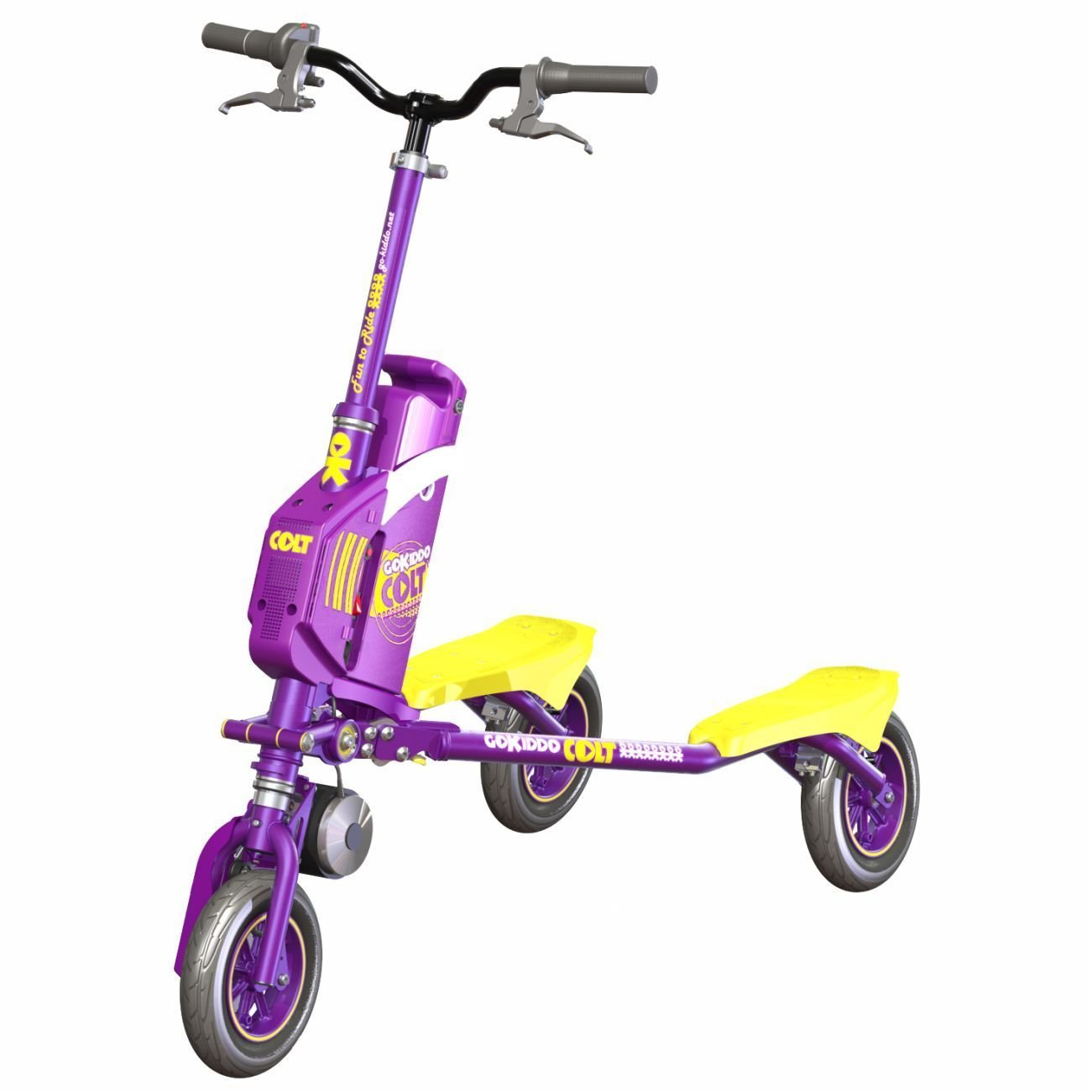 Go-Kiddo COLT Electric Carving Scooter, Purple