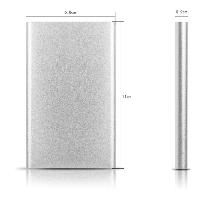 2018 Hot selling customized logo ultra thin rohs universal 10000mah power bank