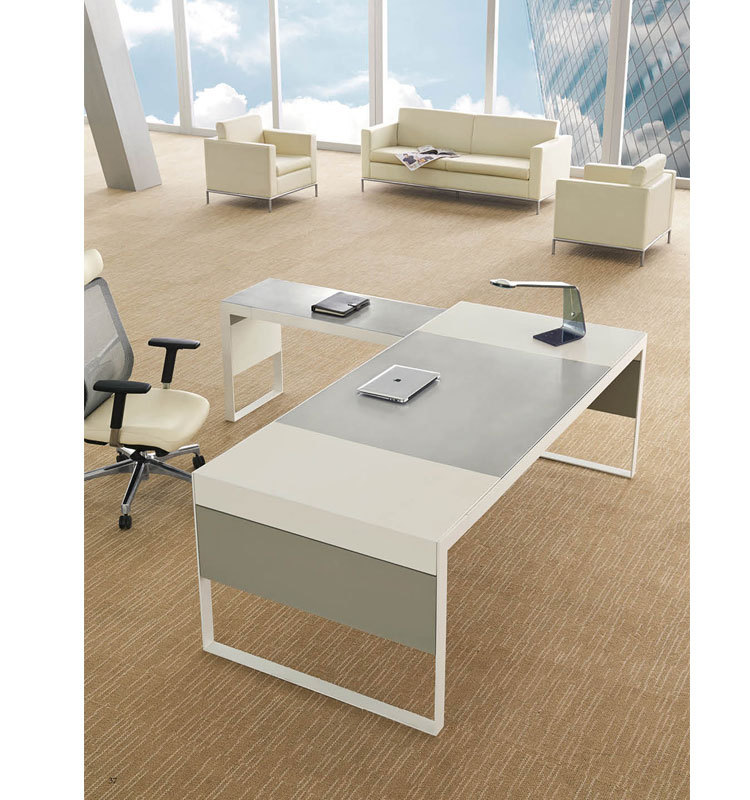simple style warm white office table models - buy office table