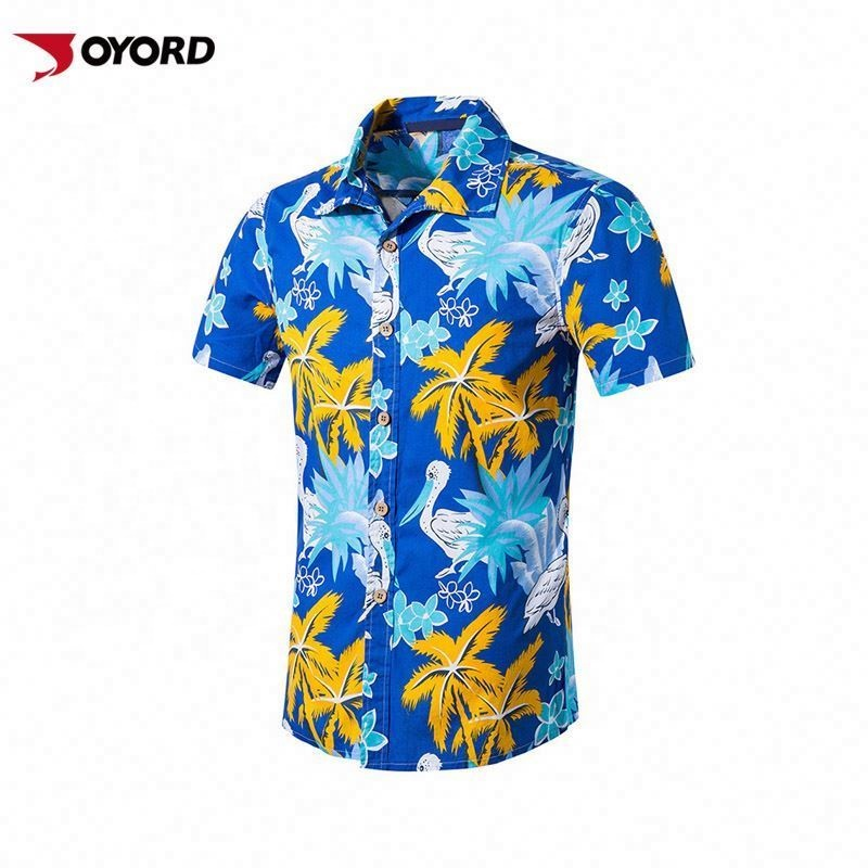 Oem Short Sleeve Men Wholesale Beach Bangkok Hawaiian Shirts