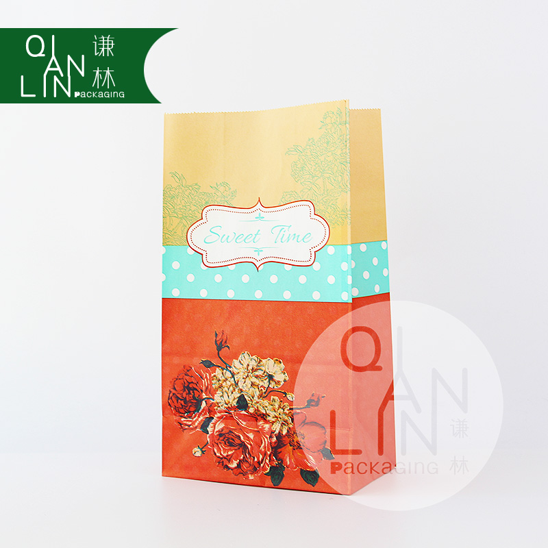 Sweet time Custom Printing Candy Gift White Kraft Paper Bags for Kids