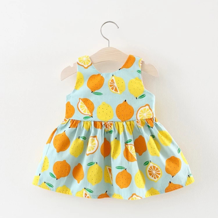 2019 Wholesale Children Bow Toddler Kids Tutu Dresses Party Summer Baby Girls Cotton Dresses
