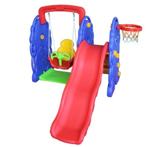 Kids cheap indoor plastic slide and swing set