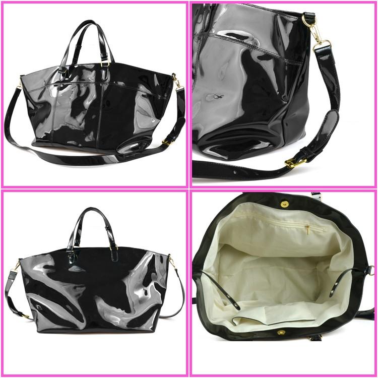 PVC tote handbags large capacity handbag for young lady waterproof shining  shopping bag 34e7b87b43d8e