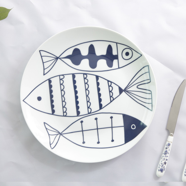 white porcelain plate  Wholesale dinner plate with full cover design of simple fish  sc 1 st  Alibaba & Buy Cheap China white plate cover Products Find China white plate ...