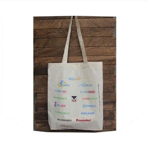 Latest product excellent quality canvas cotton tote shopping bags with logos
