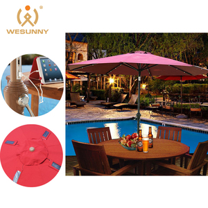 High quality low price usb support outdoor garden patio big solar umbrella