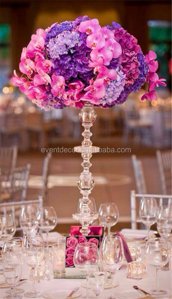 Acrylic flower stand wedding decorative centerpiece for wedding decoration cheap sale