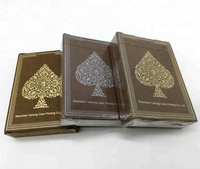 High quality luxury 310 gsm black core casino playing cards gold siver foil poker with cello wrapped