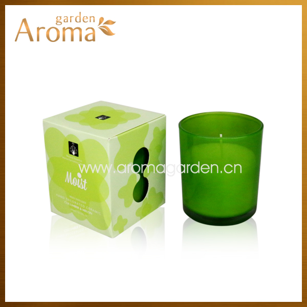 2014 vey hot design 300g scented glass candle