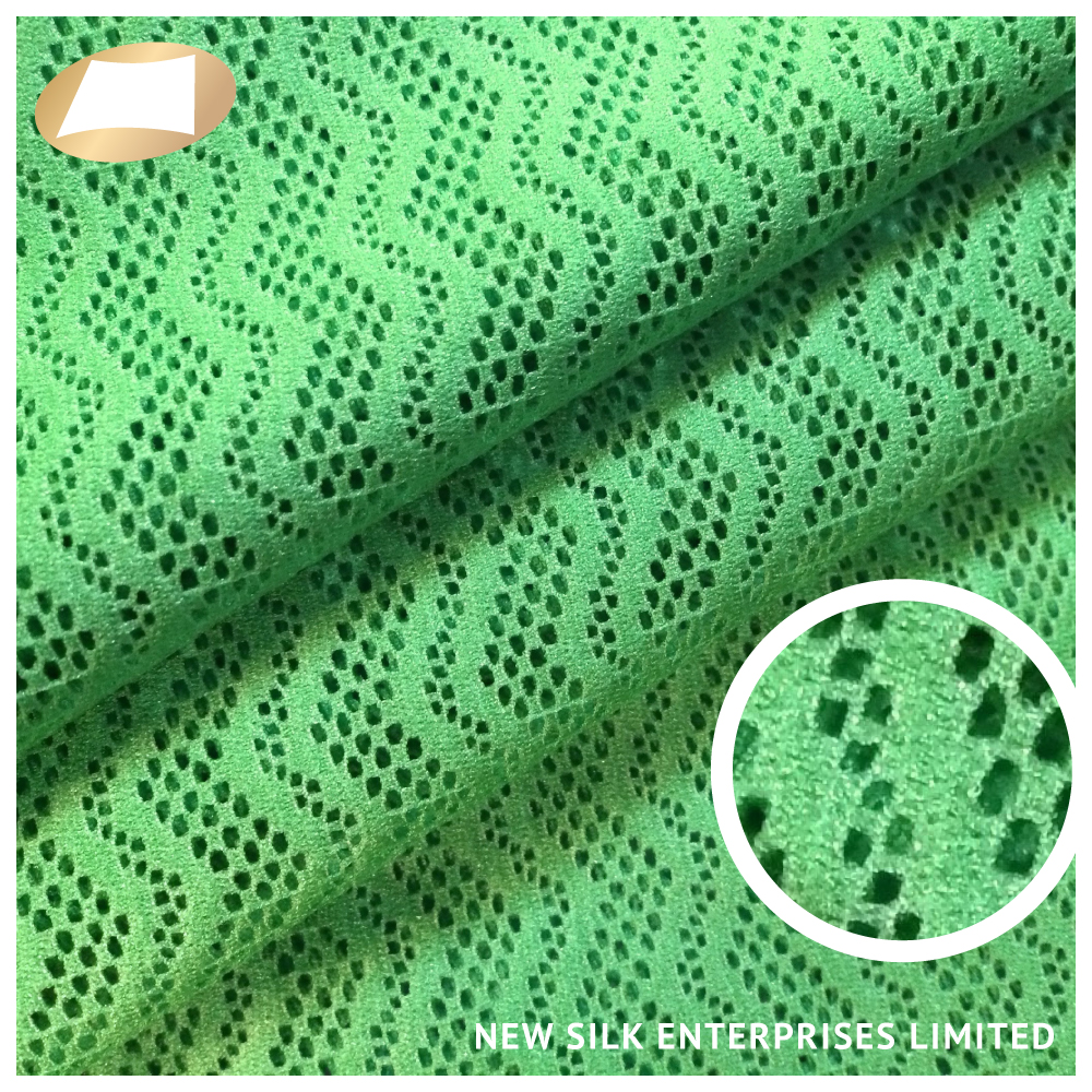 Best selling colorful elastic nylon spandex tricot mesh fabric
