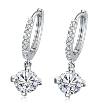 Mens Earring Tanishq Diamond Platinum Rhinestone Earrings