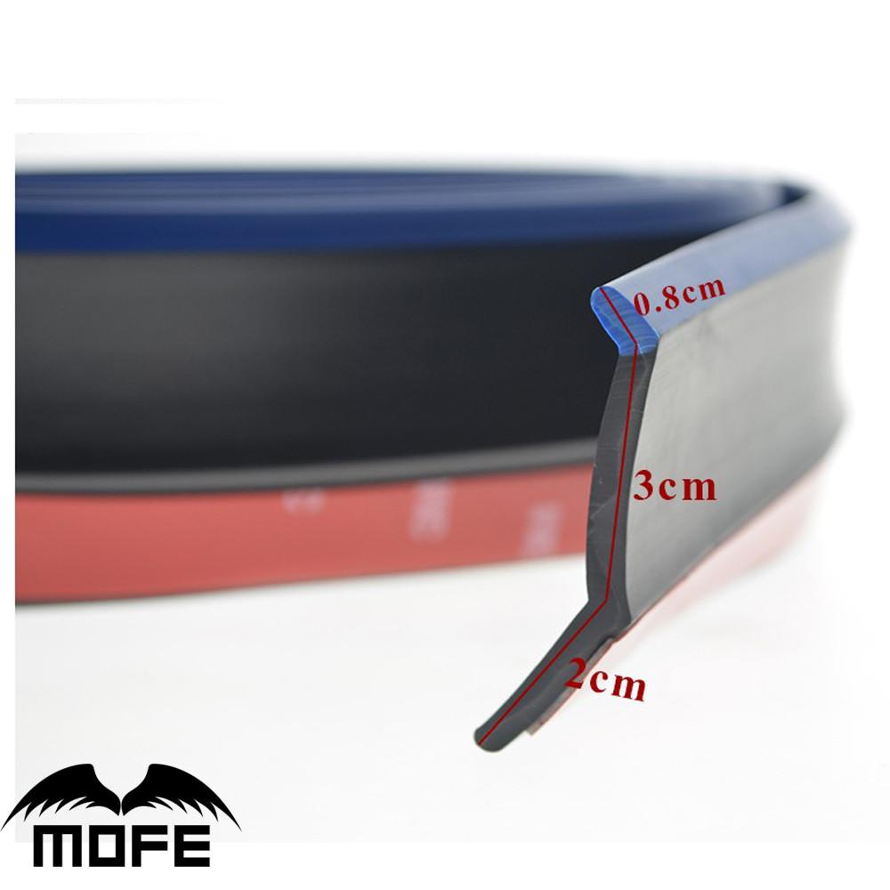 3m Car Front Bumper Lip Splitter Spoiler Rubber Guard Cover Chin