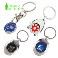 customized keychain emboss arcade metal euro custom car wash game plastic blank shopping cart token trolley coin bottle opener