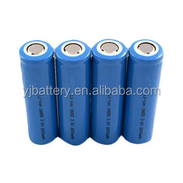 li-ion 18650 battery 3.7v 18650 2600 mah 2200 mah li ion rechargeable battery with PCB and connertor for battery power bank