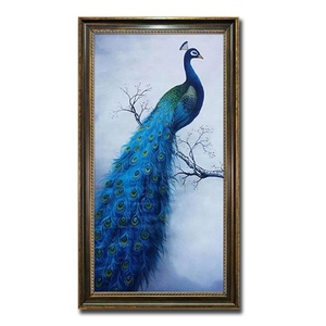 Newest Peacock Wall Decoration Art DIY Diamond 5D Peacock Painting On Canvas