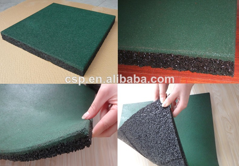 China Recycled Outdoor Rubber MattingParking Tiles For Flooring