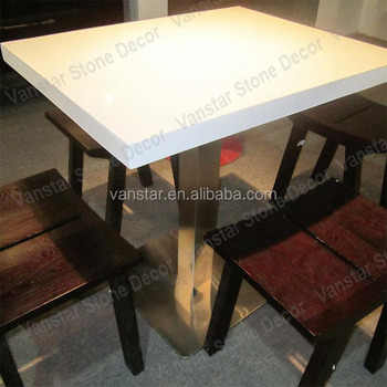 Economic Cost Cheap Artificial Marble Stone Restaurant Table Top - Restaurant table cost