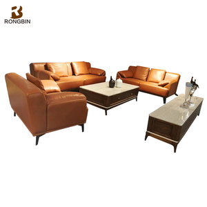 American Sectional Bonded Leather Sofa