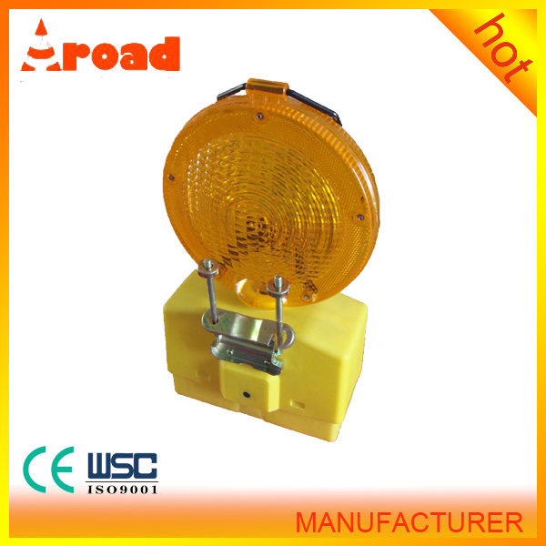factory directly sale yellow flash solar power led warning light