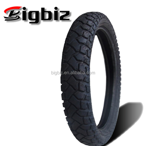 Tubeless yellowed colored 100/90-17 motorcycle tire