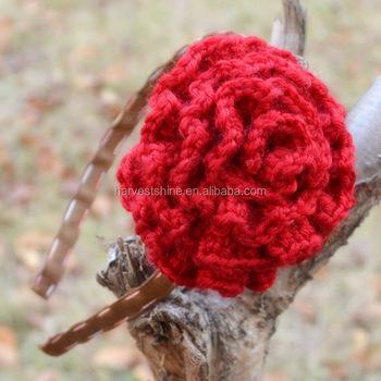 Handmade Children Wool Flowers Headbandscotton Yarn Flower Crochet