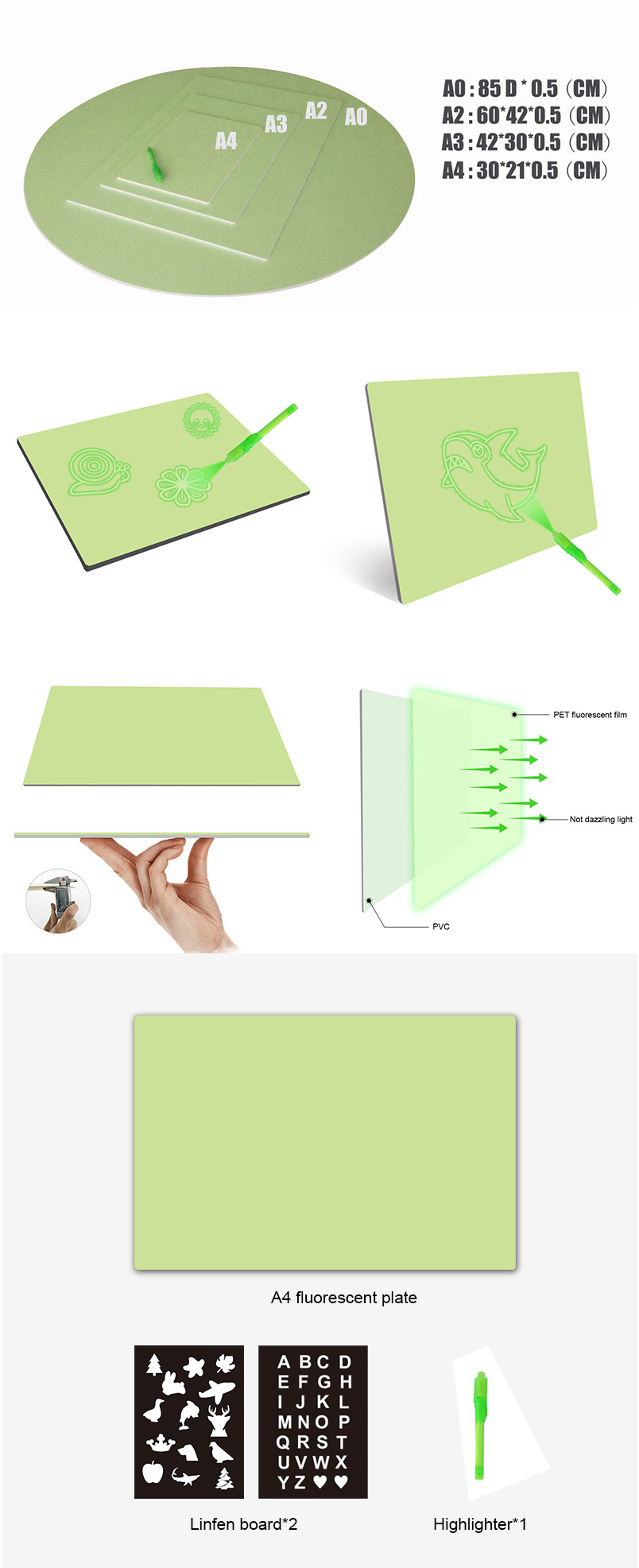 Educational Toys Toys & Hobbies and Plastic Material 3D Drawing Board Toy