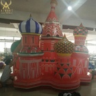Thailand theme party inflatable Castle town for stage backdrop wall decoration