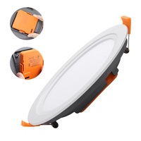 Hot selling round integrated all in one recessed downlight embedded frameless lamp 18w surface mounted led panel light