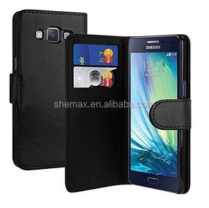 Premium PU Leather Folio Wallet Style Case With Credit Card Slots For Samsung Galaxy A5 SM-A500F Mobile Phone