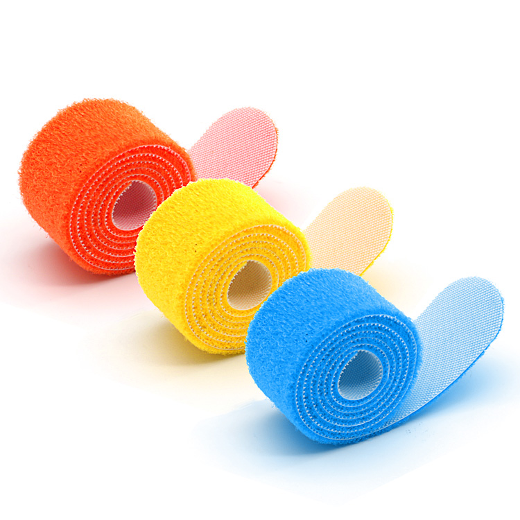 100%Nylon White Color Self Adhesive Hook Loop Tape