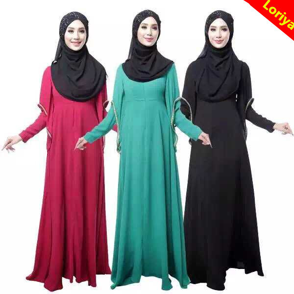 Maxi dress plus size murah