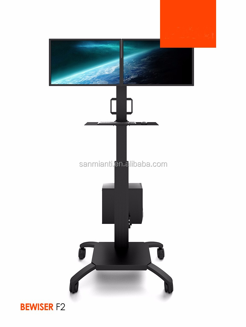 Dual Lcd Monitor Floor Stand,Adjustable Computer Monitor ...