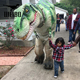 Life size walking with realistic animatronic t rex suit