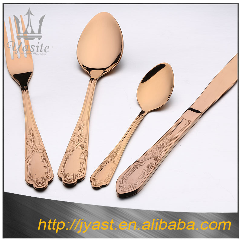 Wholesale gold stainless steel fork spoon stand , stainless steel cutlery