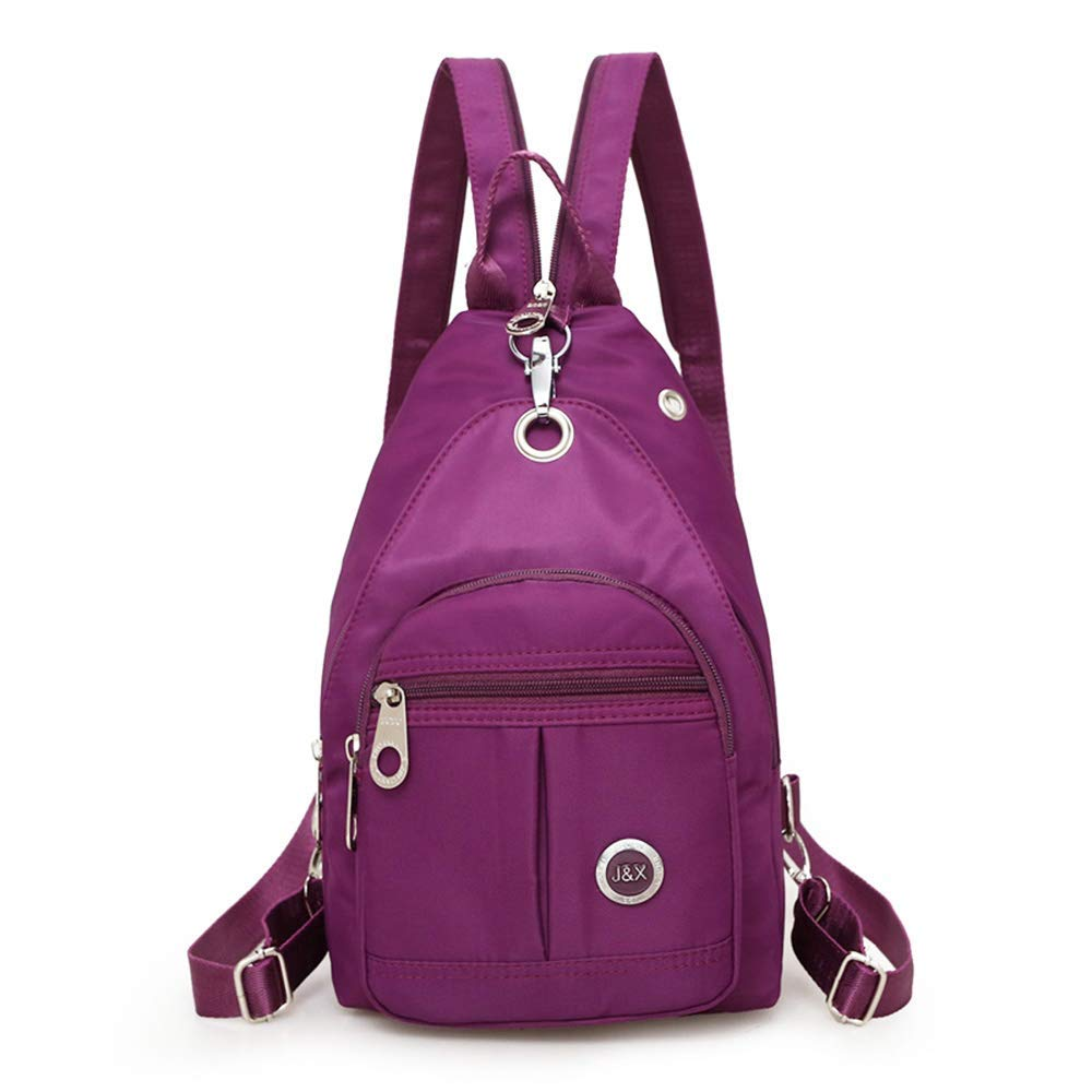 Get Quotations Mini Shoulder Backpack Waterproof Crossbody Sling Bag Small Daypack Casual Lightweight Purple Traveling Anti