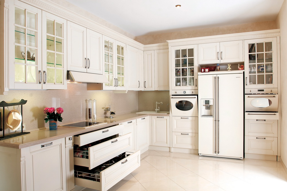 Muebles De Cocina En Blanco. Cocina En Blanco Y Acero Inoxidable ...