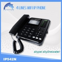 New IP phone 4 line wifi voip phone with POE sip cordless phone