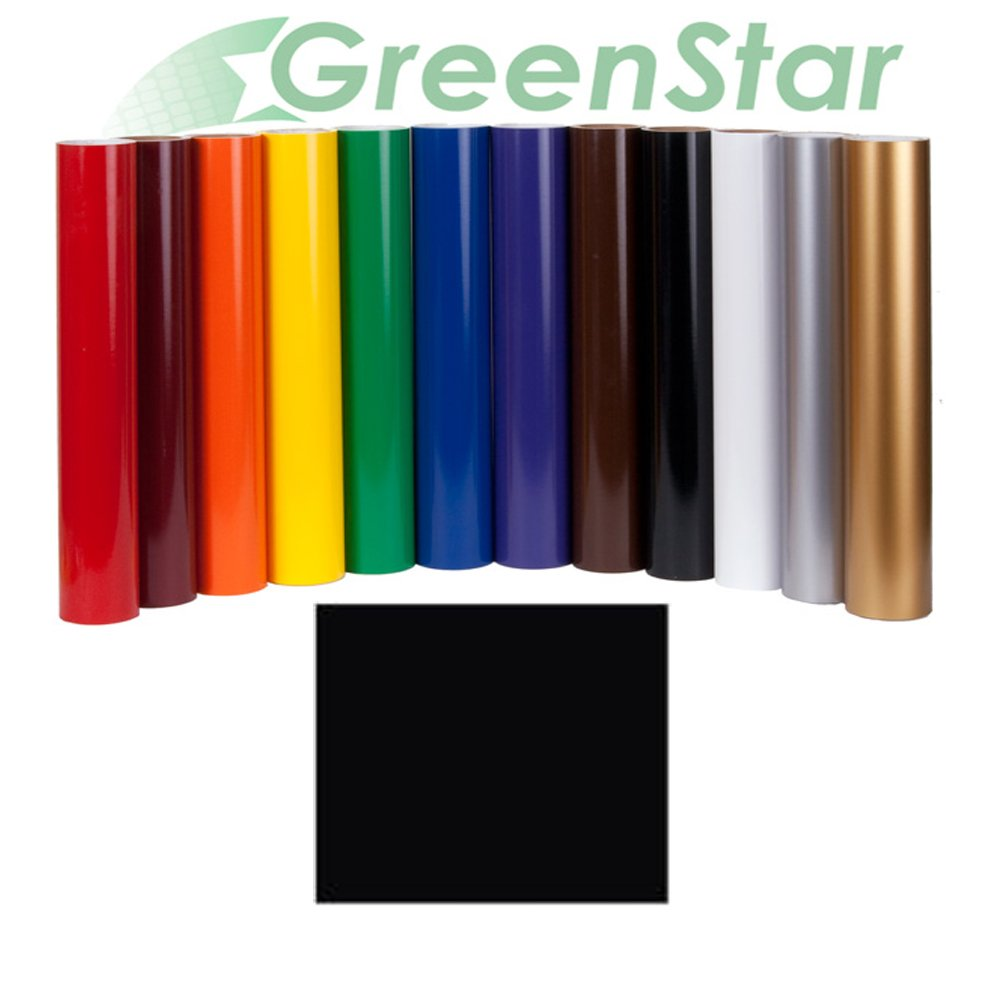 """GreenStar Black Sign Vinyl 24"""" x 10Yd, Graphics and Lettering for Interior and Exterior Application"""