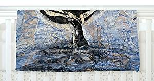 "KESS InHouse Josh Serafin ""Whale Tail"" Coastal Painting, 30"" x 40"" Fleece Baby Blanket, 40"" x 30"""