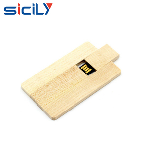 China Factory 8GB USB 2.0 Flash Drive Wooden Bank Credit Card Shape Memory Stick 16G