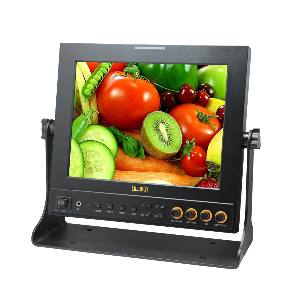 Lilliput 9.7inch CCTV On-camera Test SDI Monitor With Peaking Filter False Colors Functions