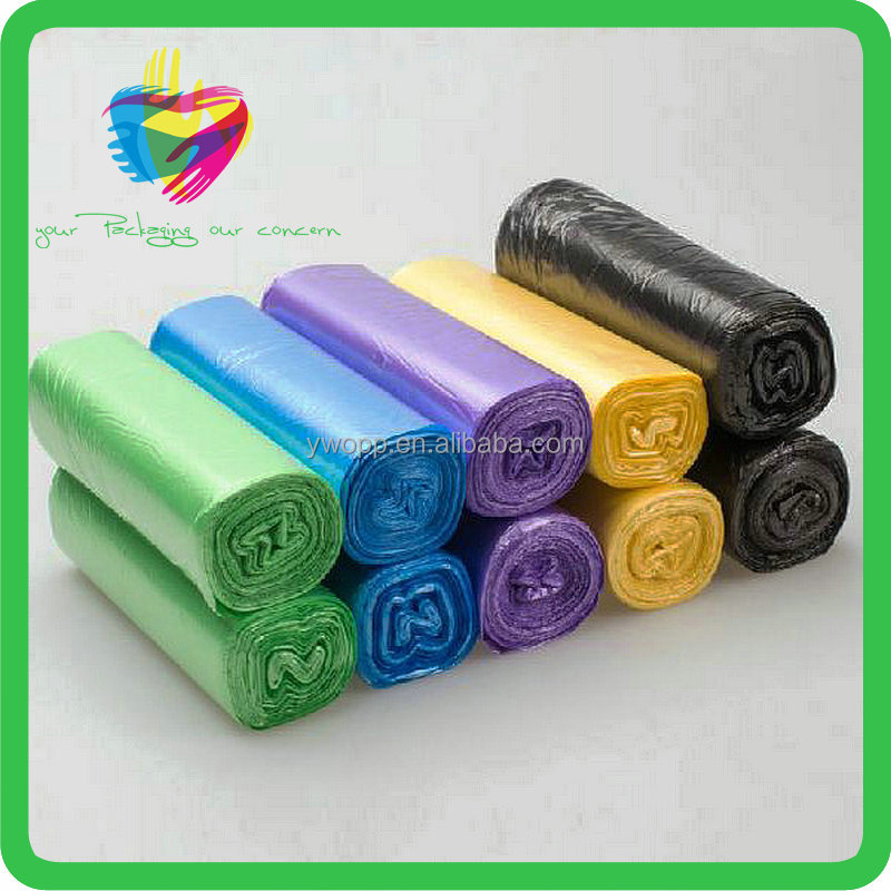 2016 Hot sale high quality cheap colorful custom printed plastic garbage bags