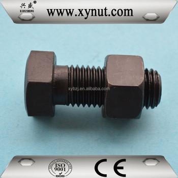 Grade 8.8 10.9 12.9 High strength Hex Bolt and Nut Din 933 934