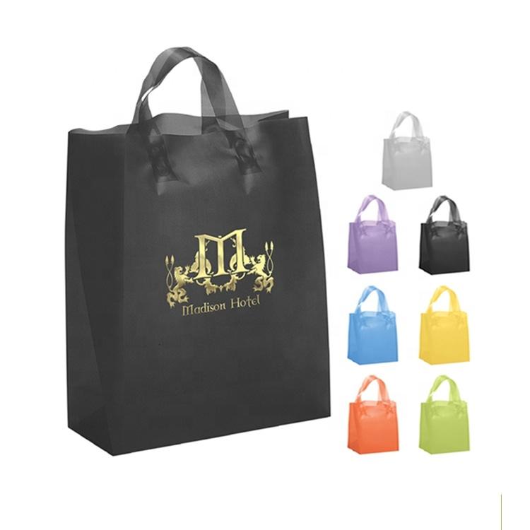 निर्माता कस्टम लोगो मुद्रण पाश संभाल के लिए रेस्तरां Takeaway प्लास्टिक नरम सामग्री बैग खाद्य पैकिंग बैग प्लास्टिक